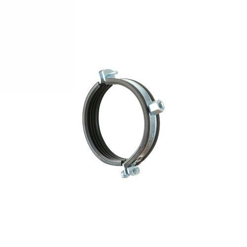 Zinc Plated Rubber Lined Drainage Pipe Bismat Bracket - 100mm