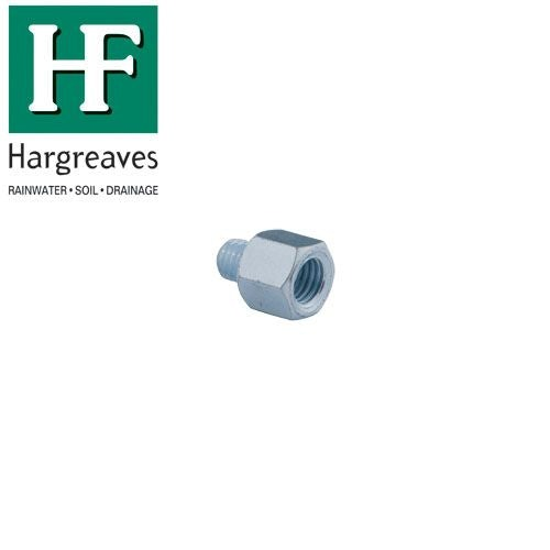 Zinc Plated Drainage Pipe Thread Adaptor - M10 to M12