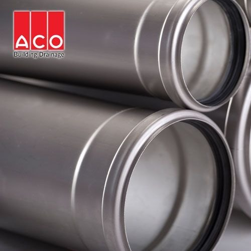 ACO 304 Stainless Steel Socketed Pipe with EPDM Seal 110mm x 5000mm