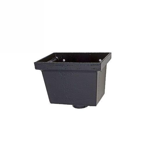Primed Cast Iron Hopper Head Rectangular 255mm x 178mm