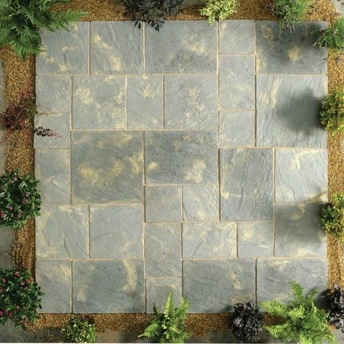 Kelkay Stone Patio Kit Abbey Paving 5.76m2 - Antique