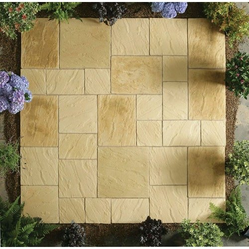 Kelkay Stone Patio Kit Abbey Paving 10.22m2 - York Gold