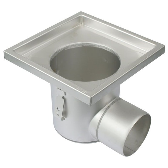 Industrial Floor Drain Gully Stainless Steel 250 x 250mm - 110mm