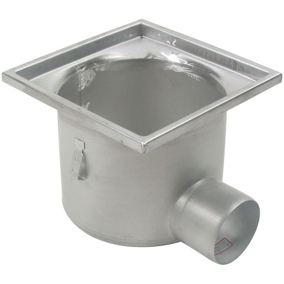 Industrial Floor Drain Gully Stainless Steel 300 x 300mm - 110mm