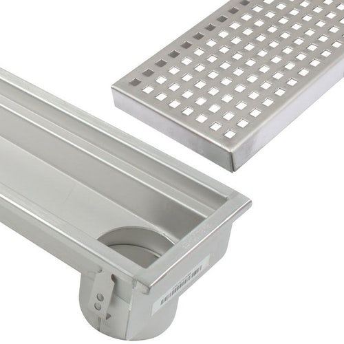 Commercial Linear Channel Drain for Concrete Floor 3000mm - End Outlet
