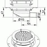 Shower Drain Circle for Sheet Flooring - Stainless Steel 32mm Outlet