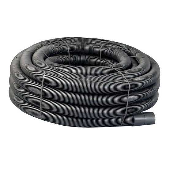 Underground Power Cable Ducting Coil 94/110mm x 50m Black Electric