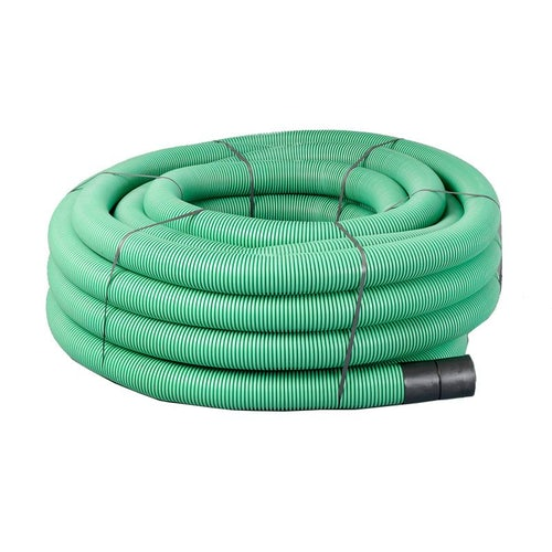 Underground Cable TV Fibre Optic Ducting Coil 50/63mm x 50m Green