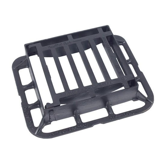 Hinged Gully Grid Cover 336L x 308W x 75H Cast Iron - C250 Class