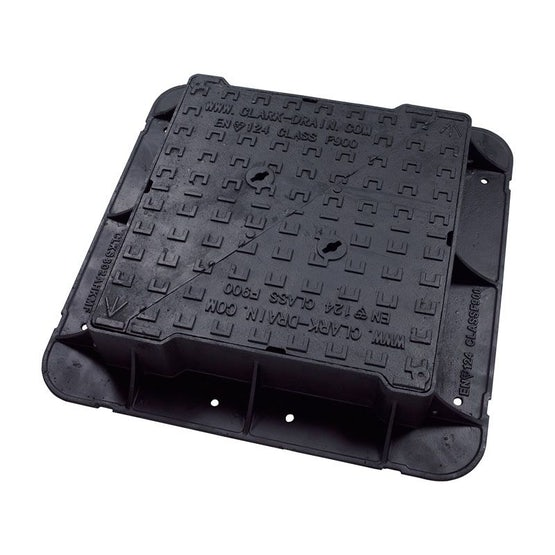 Manhole Cover and Frame 675L x 675W x 150H Cast Iron - F900 Class