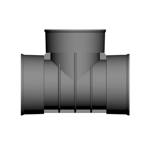 Twinwall Drain Pipe T Branch for Surface Water Drainage - 150mm