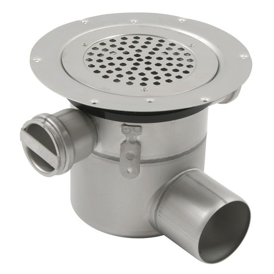 Shower Drain Adjustable Circle Gully Stainless Steel 50mm Inlets-110mm