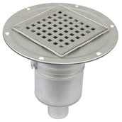 Shower Drain Adjustable Vertical Gully Stainless Steel 145x145mm- 50mm
