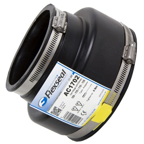 Flexseal 210mm to 100mm Rubber Flexible Drainage Adaptor Coupling