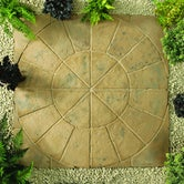 Kelkay Stone Circle Patio Kit Minster Paving 1.8m - Autumn Brown