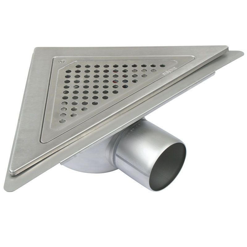 Video of Shower Drain Gully Stainless Steel Triangular Corner Adjustable - 75mm