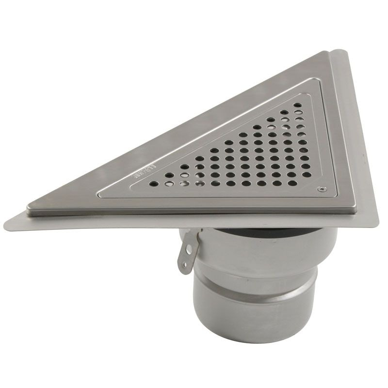 Video of Shower Drain Triangular Back Wall Adjustable Stainless Steel - 110mm