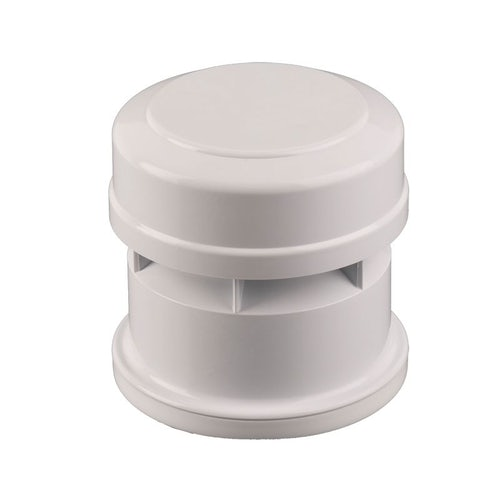 Soil Pipe Push Fit Air Admittance Valve 82.4mm - 110mm White