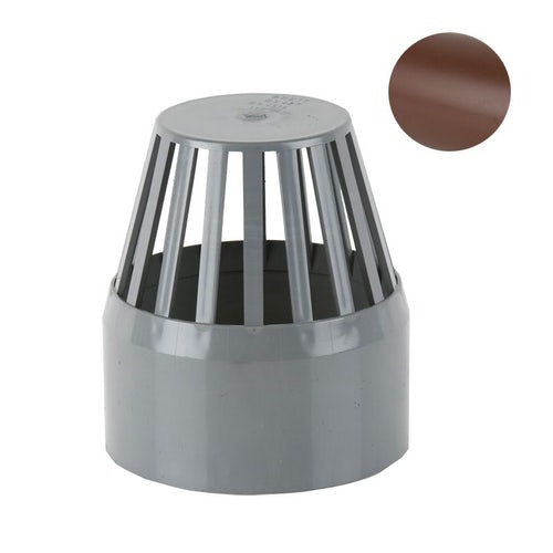 Soil Pipe Push Fit 110mm Vent Cowl - Brown