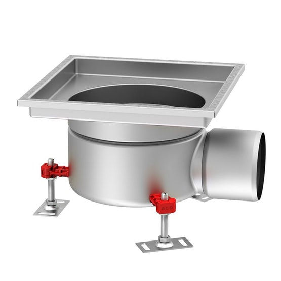 ACO Gully 218 Stainless Steel 316 Fixed Horizontal 110mm Outlet