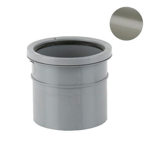 Soil Pipe Solvent Weld Double Socket Pipe Connector 110mm - Grey Olive
