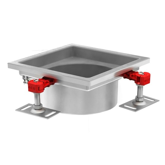 ACO Gully 218 Stainless Steel 316 Telescopic Square Top 300mm
