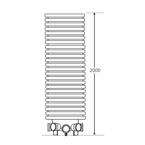 Accesso IC110 600mm Single Piece Adoptable Inspection Chamber - 2000mm Invert