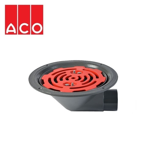 ACO Rainwater Roof Outlet 90dg Screw with Flat Grate - 50mm