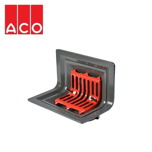 ACO Rainwater Roof Balcony TwoWay Outlet Screw with Flat Grate - 75mm