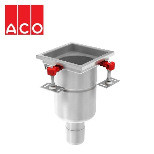 ACO Gully 157 Stainless Steel 304 Fixed Vertical Outlet 200mm