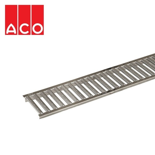 ACO Hexdrain and Raindrain Polished Stainless Steel Grating - 1m