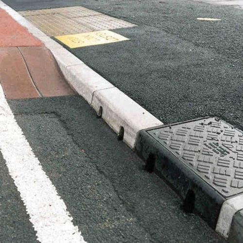 ACO KerbDrain KD200 Half Battered Shallow Kerb Unit - 235mm Deep