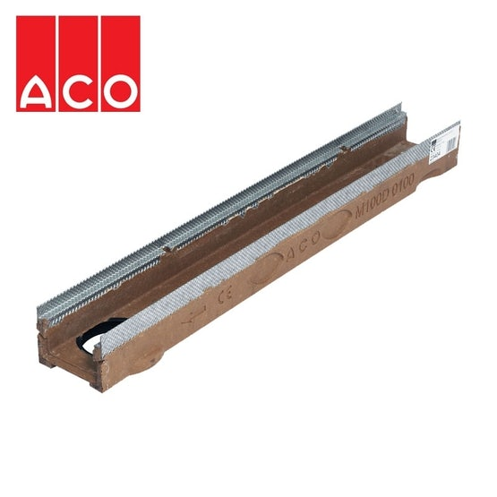 ACO MultiDrain M150D with Outlet - 185mm x 100mm x 1000mm