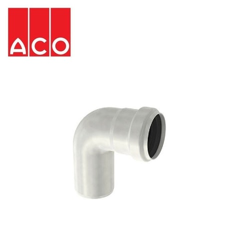 ACO 304 Stainless Steel Single Socketed Pipe 87.5dg Bend - 75mm