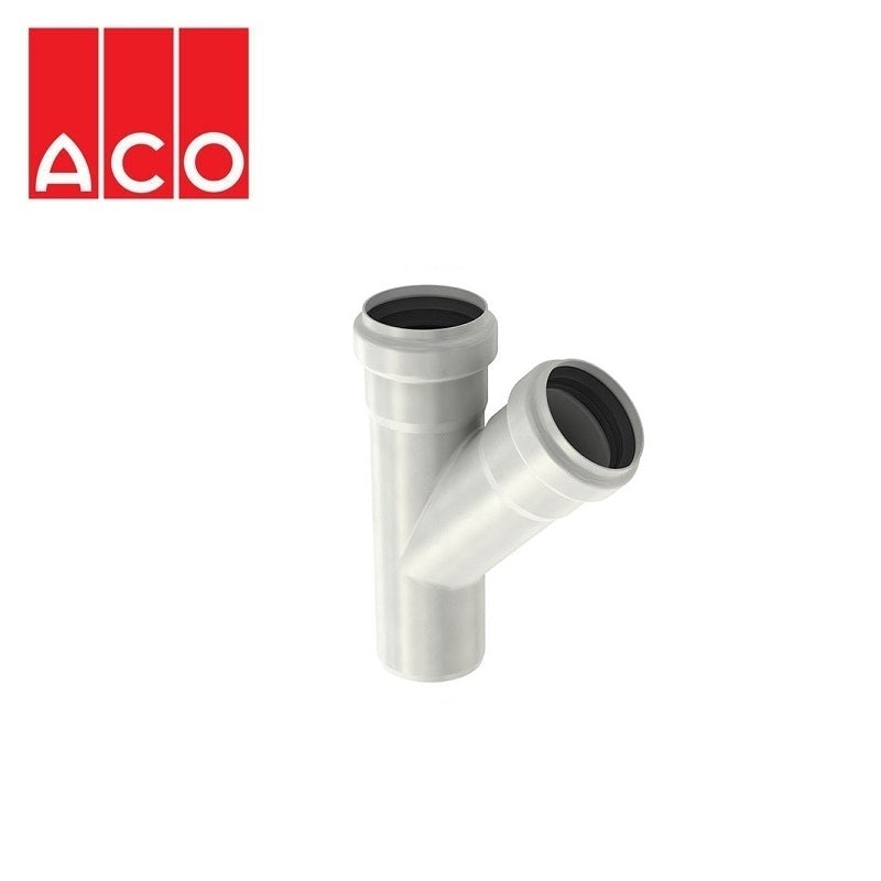Video of ACO 304 Stainless Steel Single Socketed Pipe 45dg Branch - 50mm