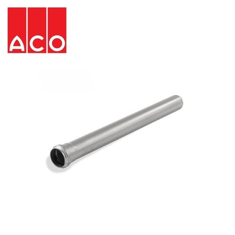 Video of ACO 304 Stainless Steel Socketed Pipe with EPDM Seal 75mm x 2000mm