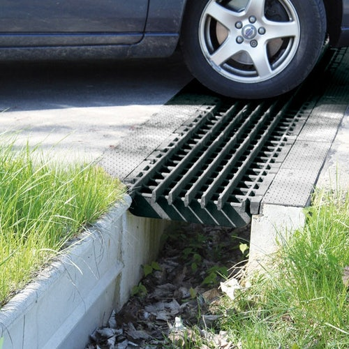 ACO Stop Channel Drain Installed