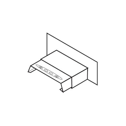 Aluminium Coping Skyline Stopend Upstand 422mm - Milled