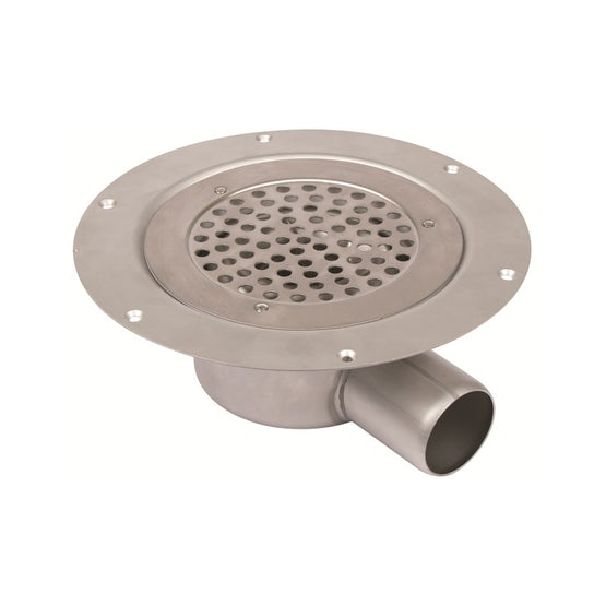 Shower Drain Vertical Circle Gully Stainless Steel 155mm - 50mm