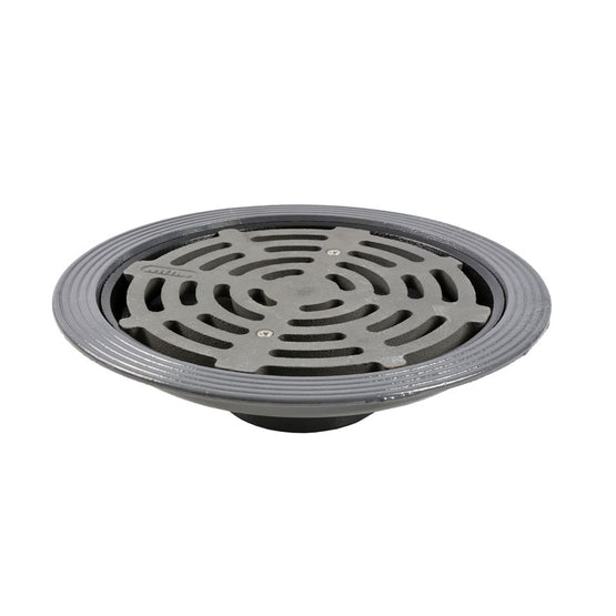 Cast Iron Rainwater Outlet Vertical Thread with Flat Grating - 160mm