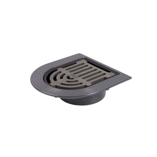 Cast Iron Rainwater Balcony Outlet with Threaded Spigot - 110mm