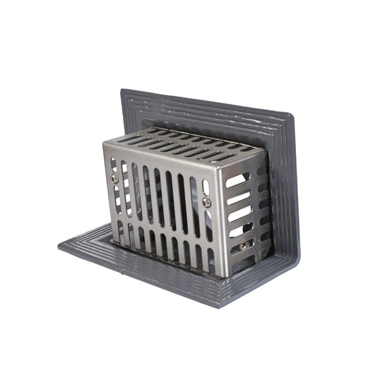Cast Iron Rainwater Two-Way Outlet with Boxed Grating