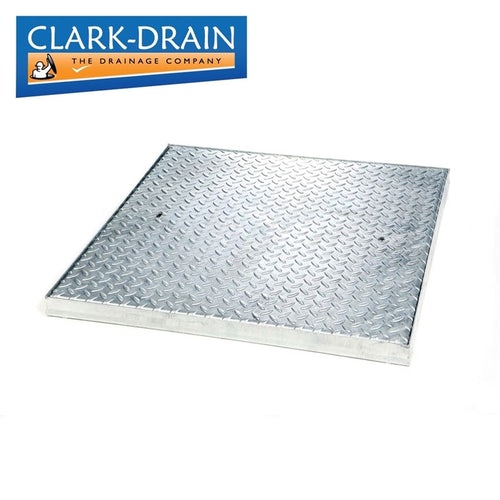 Clark Drain 5 Tonne GPW Steel Lidded Manhole Cover and Frame 900 x 900 x 50mm