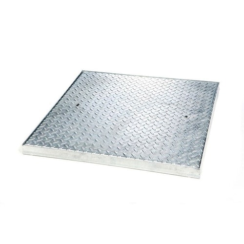 Manhole Cover and Frame with Steel Lid 750L x 750W x 50H - 5 Tonne GPW