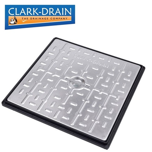 Manhole Cover and Frame with Steel Lid 450L x 450W x 30H - Pedestrian