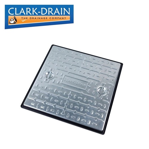 Clark Drain 5 Tonne GPW Steel Manhole Cover and Frame 600 x 600 x 30mm