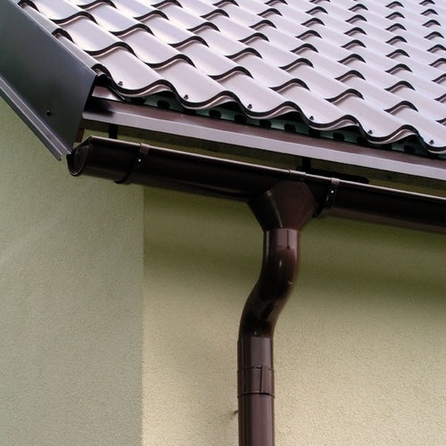 Lindab Half Round Fascia Bracket 125mm Painted Coffee Brown