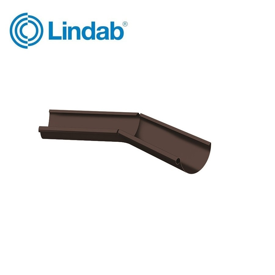 Video of Lindab Half Round 135dg Inner Gutter Angle 100mm Painted Coffee Brown
