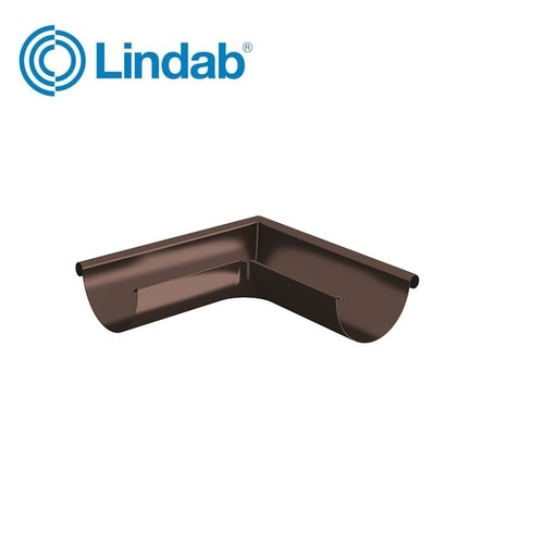 Lindab Half Round 90dg Outer Gutter Angle 125mm Painted Coffee Brown