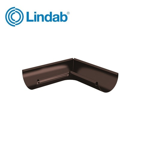 Lindab Half Round 90dg Inner Gutter Angle 100mm - Painted Coffee Brown
